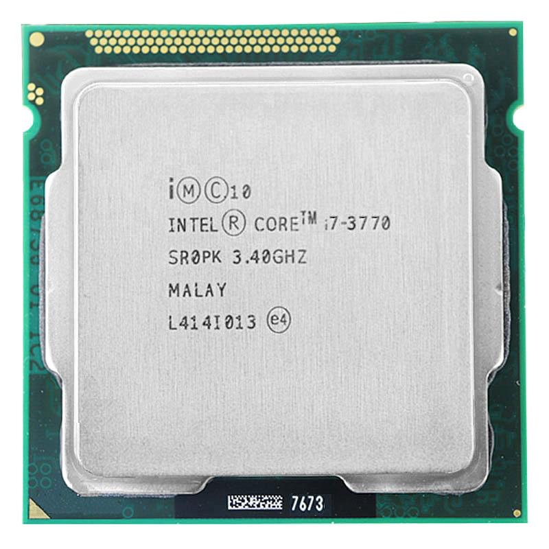 Para Intel Core i7-3770 I7 3770 CPU 3.4GHz 8M 77W 22nm Quad-Core Soquete 1155 de Desktop CPU