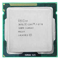 Para Intel Core i7-3770 I7 3770 CPU 3.4GHz 8M 77W 22nm Quad-Core Soquete 1155 de Desktop CPU