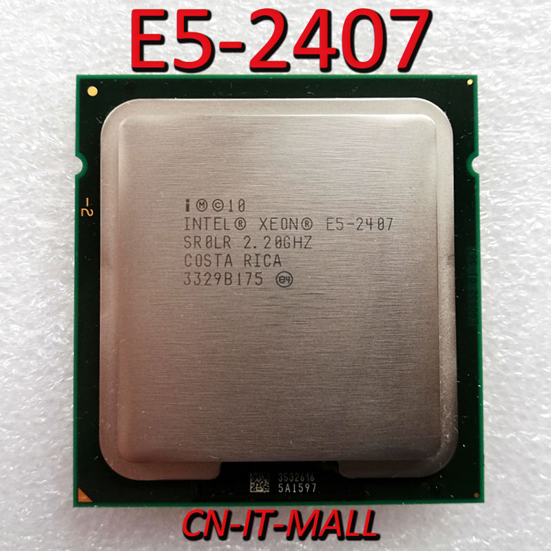 Intel Xeon E5-2407 CPU 2.2GHz 10M 4 Core 4 Threads LGA1356 Processor
