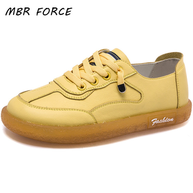 MBR FORCE  Women Sneakers Flats Platform Shoes Fashion Lace-up Outdoor Casual Ladies Shoes