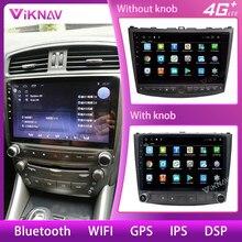 Reprodutor multimídia da navegação de gps do carro para lexus is250 is300 is200 is220 is350 2005-2012 android unidade de cabeça de rádio tela de áudio do carro