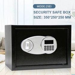 Caja de Seguridad de 35x25x25cm, caja con contraseña Digital de seguridad, caja para joyas en efectivo, cerradura para el hogar, teclado para Hotel, seguridad, depósito secreto, caja fuerte