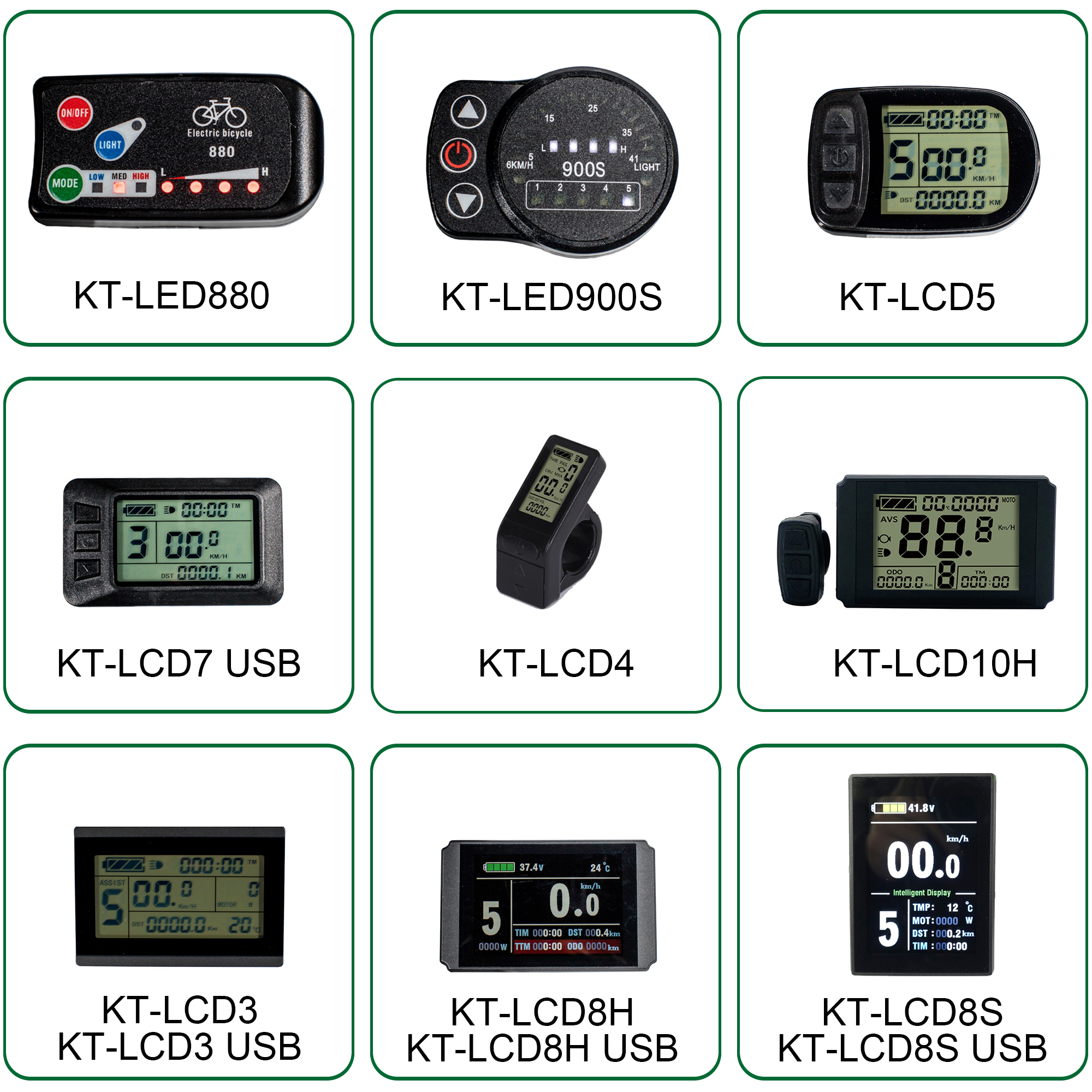 EBike KT LCD Display 36V LCD3 LCD8H LED880 LCD4 LCD3U E Bike Electric Bicycle LCD Led Display For Electric Bike E-bike