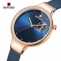 2019 BELOHNUNG Frauen Uhren Mode Quarz Dame Lila Armband Datum Beiläufige Wasserdichte Armbanduhr Geschenk für Mädchen Freund Liebhaber