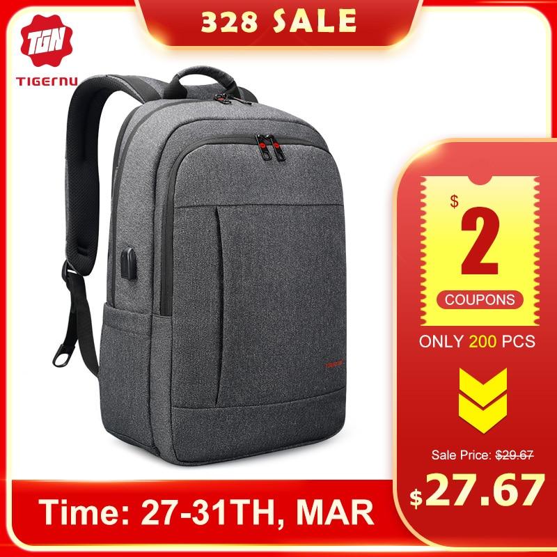 Tigernu Anti Theft USB Bagpack 15.6 To 17inch Laptop Backpack For Women Men School Bag Female Male Travel Mochila