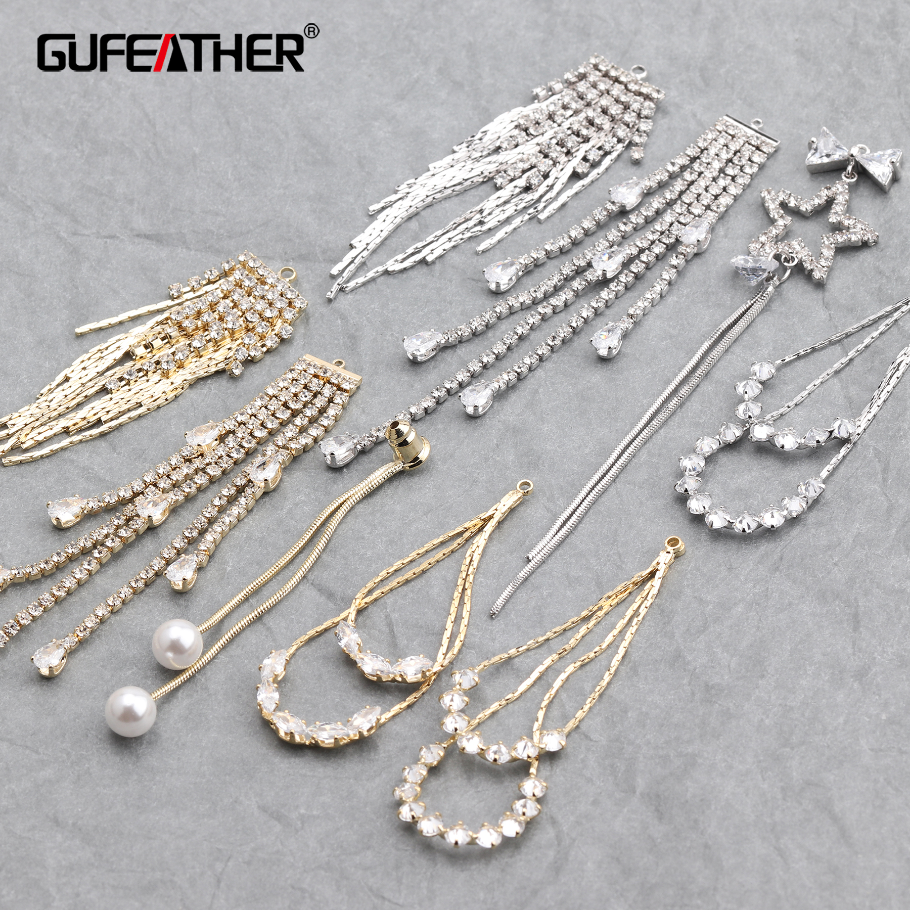 GUFEATHER M631,jewelry Making,diy Tassel Pendant,18k Plated Gold,stable Quality,jewelry Findings,hand Made,diy Earrings,6pcs/lot