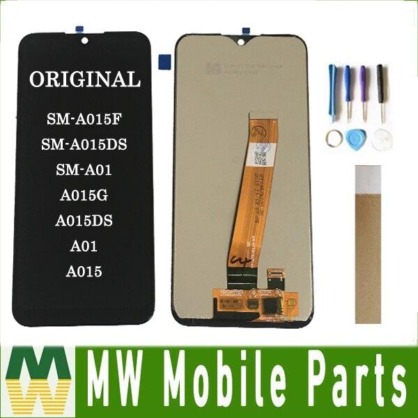 Original For Samsung Galaxy SM-A015F SM-A015DS SM-A01 A015G A015DS A01 A015 LCD Display Touch Screen Sensor