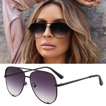 Sexy Lady Vintage Round Metal Sunglasses Men Driving Black R