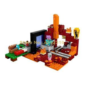 Image 3 -  417pcs my world the nether hell portal building blocks 3   21143 Bricks Toy