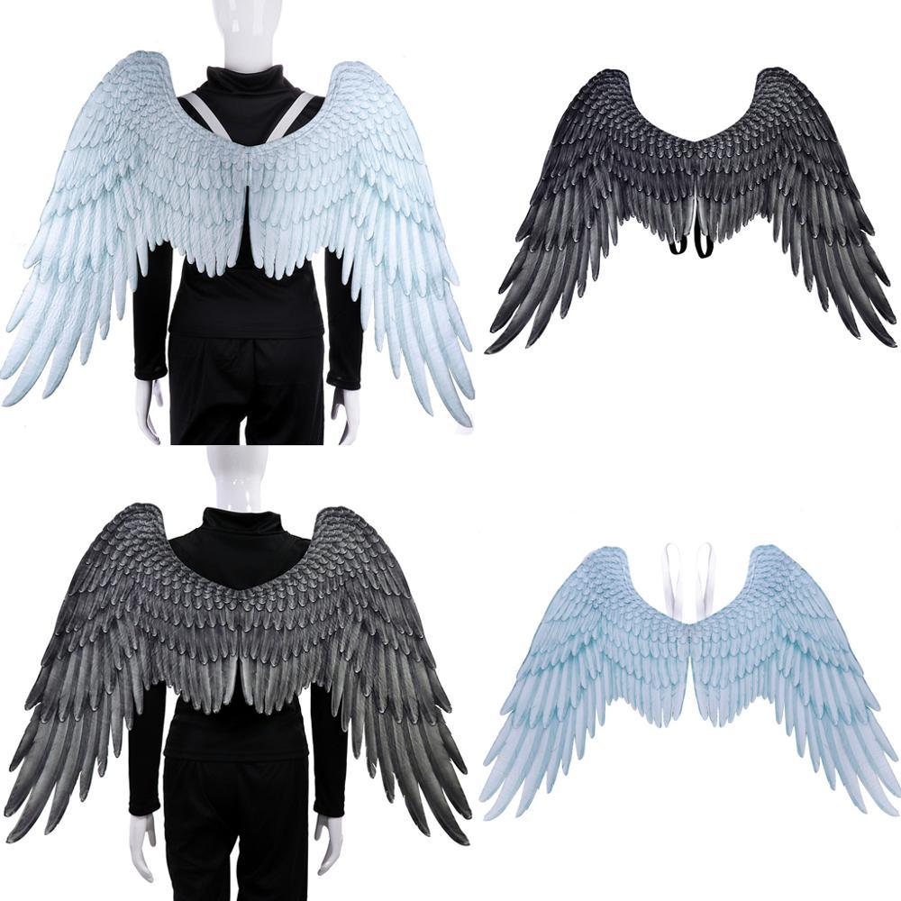 Heißer Erwachsene Kinder Engel Flügel Fee Feder Phantasie Kleid Kostüm Party Hen Halloween Kinder Urlaub Geschenk