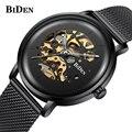 Лидирующий бренд  роскошные часы для мужчин  автоматические механические золотистые часы-скелетоны  винтажные мужские часы  мужские наручн...