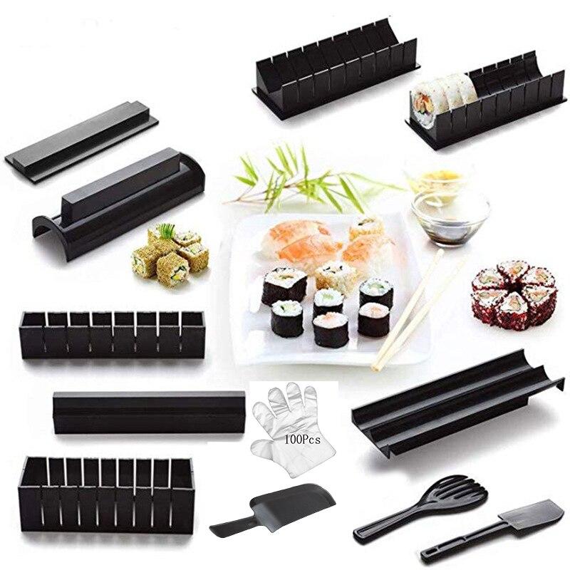 Набор для суши из 12 предметов, пластиковый набор для суши, кухонные инструменты/набор для суши/форма для суши/рисовый шарик, форма для кекса