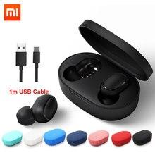 Instock Xiaomi Redmi Airdots Xiaomi Bluetooth אלחוטי סטריאו אוזניות קול בקרת Bluetooth 5.0 רעש הפחתת שליטה ברז
