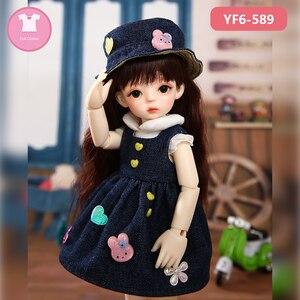 Image 4 - 1/6 BJD SD Одежда для куклы, розовая или белая Фотосессия и черные джинсы, милые аксессуары для кукол Yosd Body