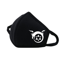Anime  Fullmetal Alchemist Mouth Face Mask Dustproof Breathable Facial Protective Cartoon Men Women Masks Fashion