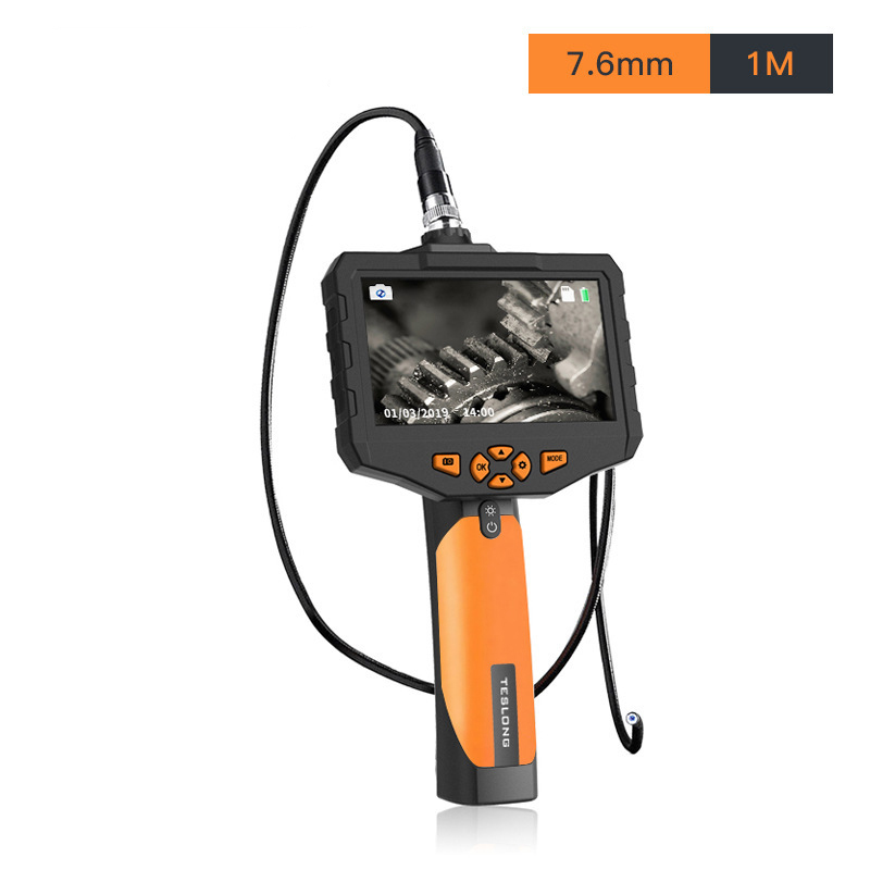 4.5inch High definition  Screen Borescope Digital Industrial Endoscope For pipeline cars Snake Hard endoscope|Borescopes| |  - title=
