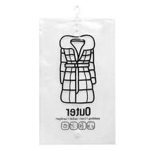 1pc saco de compressão a vácuo de armazenamento de roupas transparente grande grosso para baixo jaqueta bombeamento para roupas comprimido saco de classificação