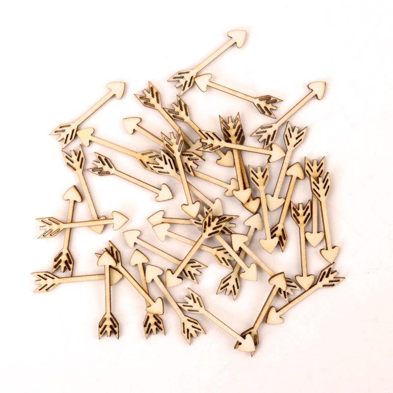 Деревянные изделия ручной работы аксессуары для домашнего декора, скрапбукинги DIY микс деревянных стрела шаблон украшения 7 х 33 мм 50 шт.