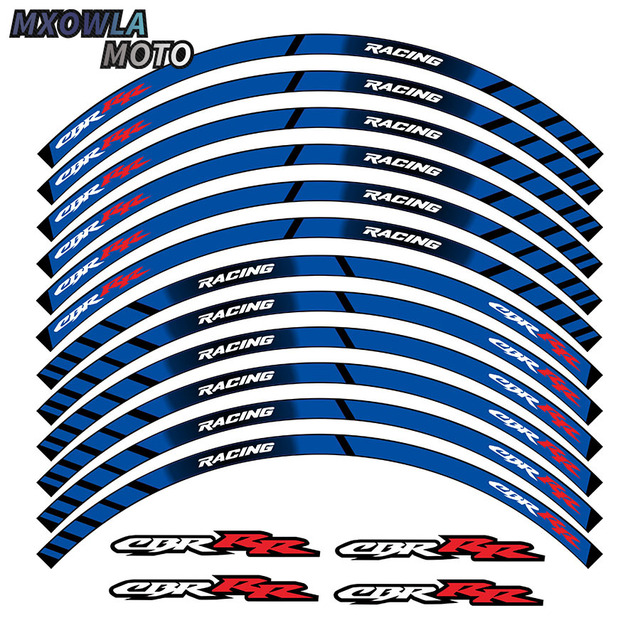 $ 9.09 New high quality 12 Pcs Fit Motorcycle Wheel Sticker stripe Reflective Rim For Suzuki GSX-R GSX-R750 GSXR1000 750 1000 gsxr