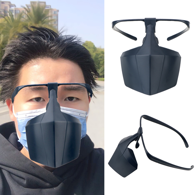 Plastic Protective Mask Against Droplets Anti-fog Isolation Face Mask Breathable Reusable Protective Cover Isolation Shield 2
