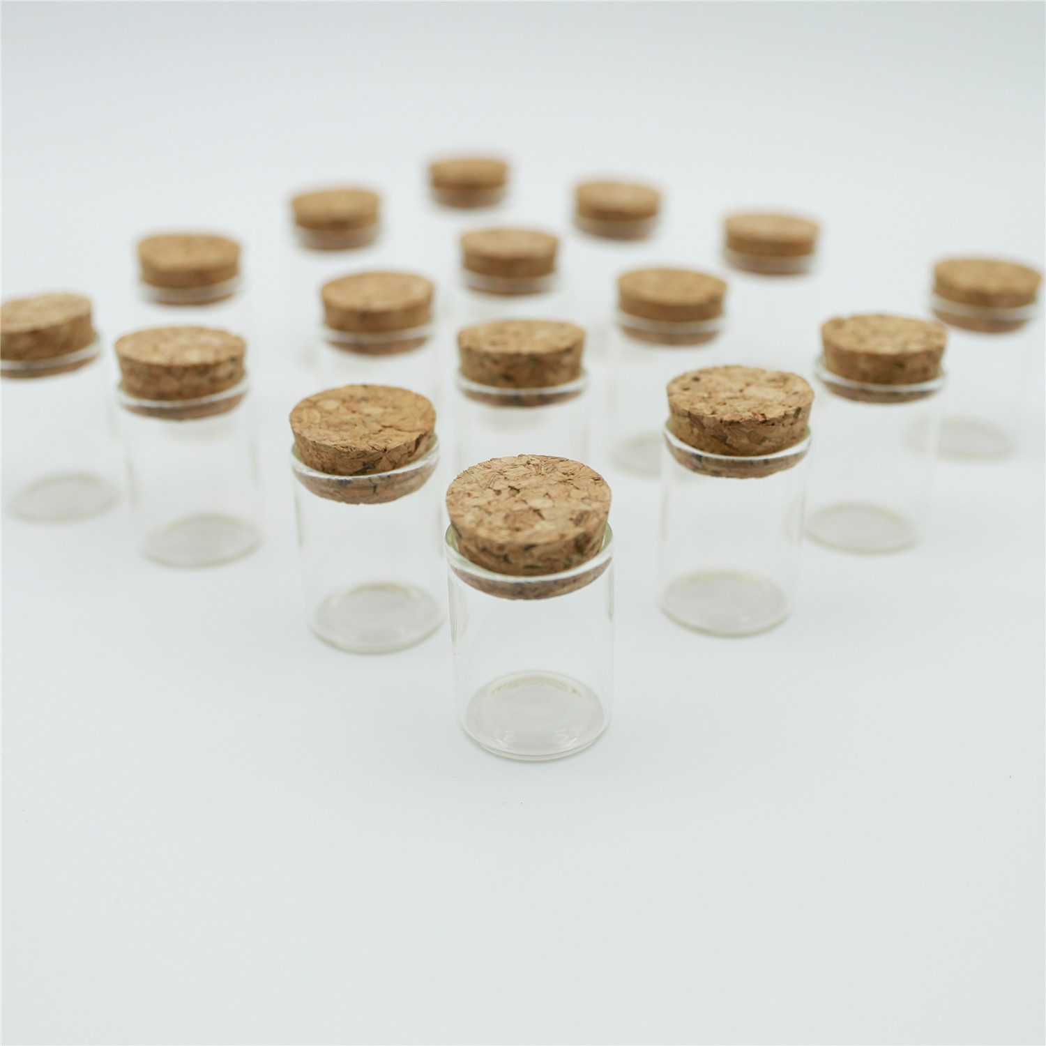 12pcs/lot 15ml 30*40mm Small Glass vial Bottle Test Tube With Cork Mini spice Jars Containers