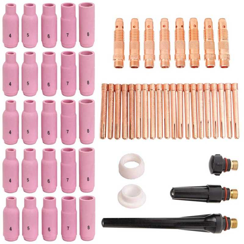 10 pcs #5 10N49 Alumina Nozzle Cups for WP-17 WP-18 WP-26 8.0mm 5//16