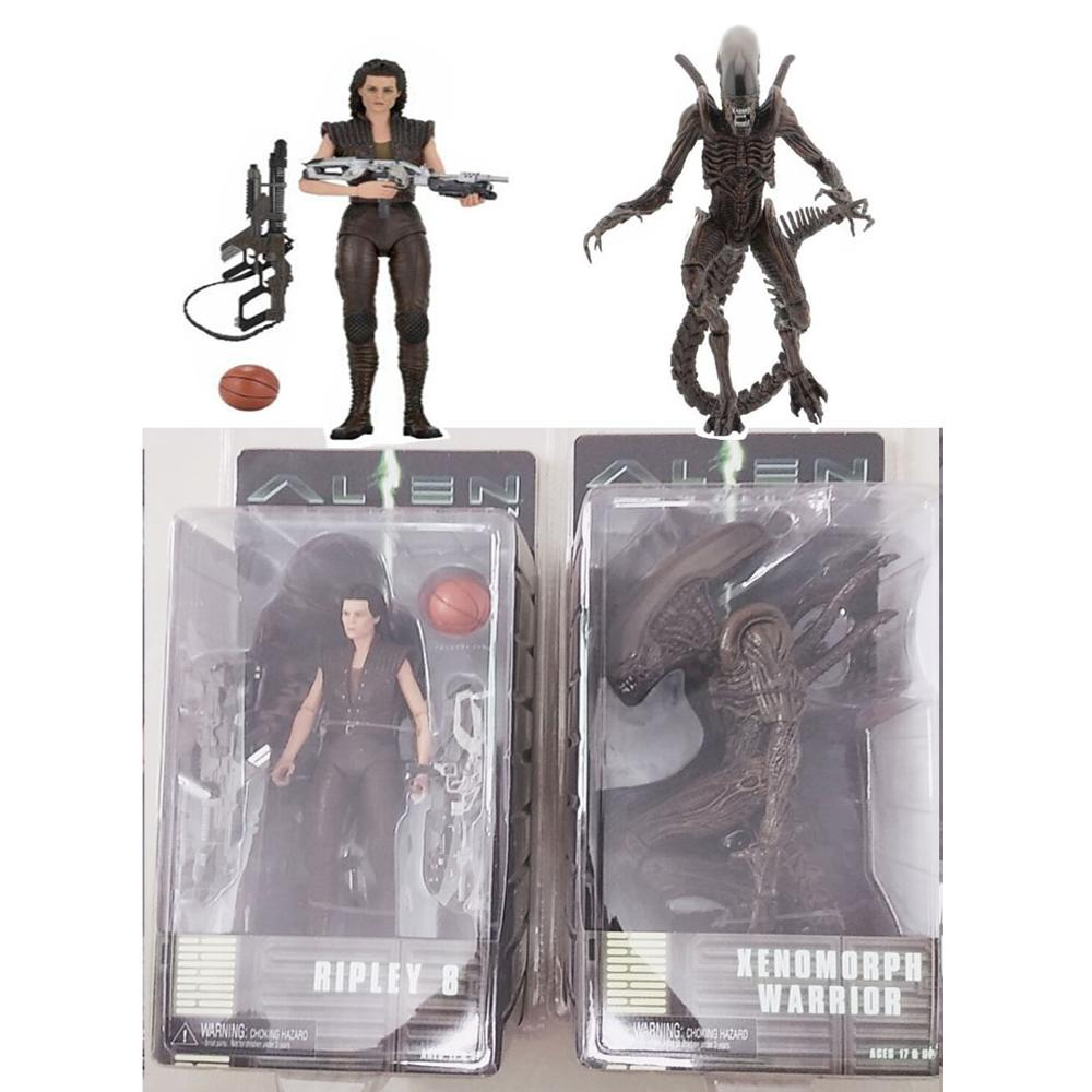 Original NECA <font><b>Alien</b></font> Series 14 Ripley 8 Resurrection Xenomorph Warrior Action Figure Model Toy Dolls Gift image