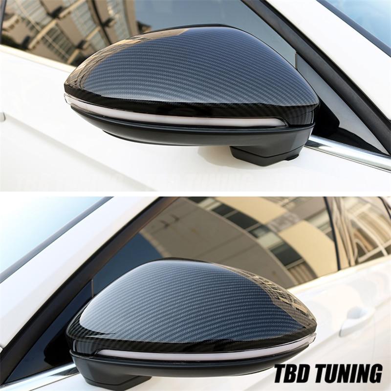 Зеркальный чехол из углеродного волокна для Volkswagen VW Golf Mk7 7 Touran Jetta 2013 2014 2015 2019 крышка зеркала заднего вида