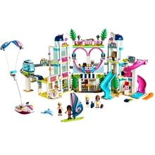 Friends The heart Lake City, модель курорта, совместимая с lepining Friends 41347, строительные блоки, кирпичные игрушки для детей