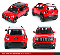 Maisto 1/24 Alloy Diecast Car Model Boys Gift Car Toys 1:24 Red Jeep Renegade SUV Vehicles Sports Cars for Collection