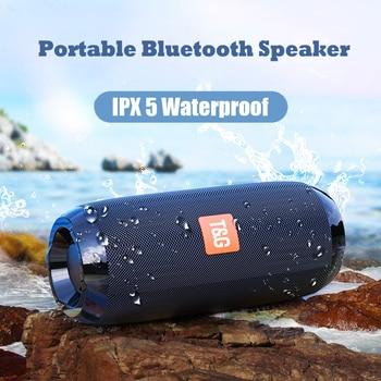 Portable Bluetooth Speaker Wireless Column Waterproof Speakers Subwoofer Support FM Radio USB AUX TF HD Outdoor Loudspeaker