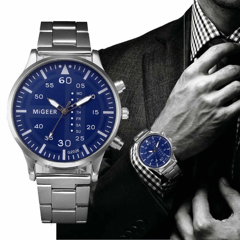 Мужские часы люксовый бренд модные мужские из нержавеющей стали с кристаллами