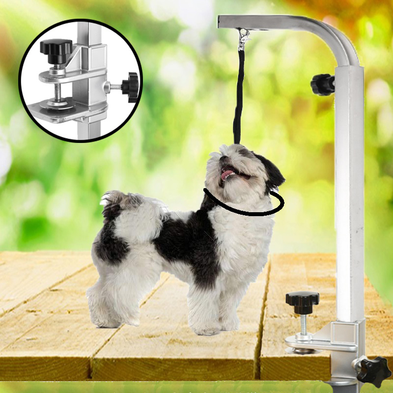 1Pc Adjustable Pet Dog Suspension Grooming Bath Steel Table Desk With Restraint Rope Beauty Portable Table Arm Support Holder