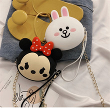 Q UNCLE New Animal Cartoon Headphones Case Box Portable Storage Coin Purse Card Keys For Baby Girls Cute Silicone Bag With Chain