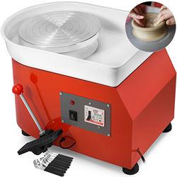 Máquina formadora de cerámica, rueda de cerámica de 25cm con Pedal de palanca de Pie ajustable 350W, Arte Artístico