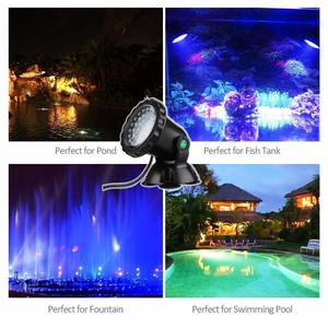 Image 5 - 12V Submersible Pond Light Multi Color Aquarium Spotlight for Garden Fountain Fish Tank RGB LED Lighting with Remote Controller