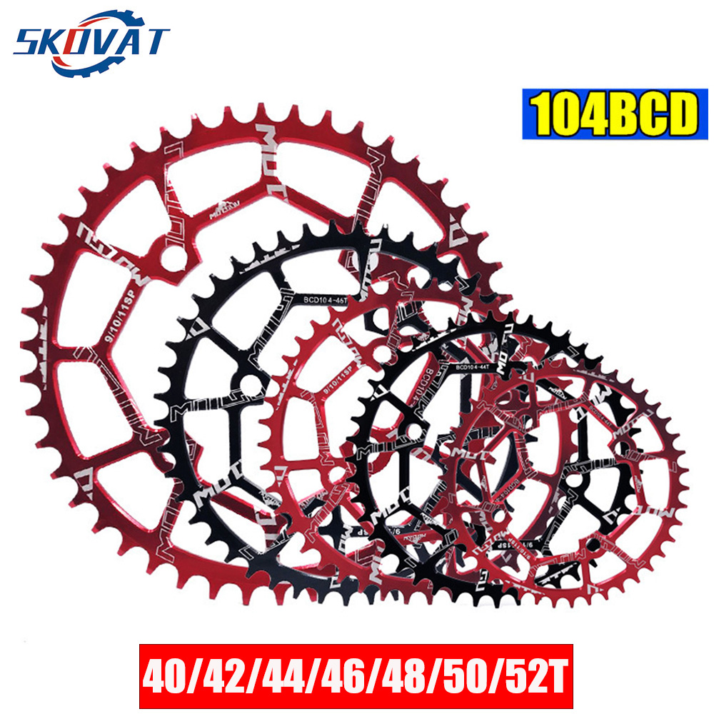 SKOVAT Round 104BCD Bicycle Chainwheel 40T 42T 44T 46T 48T 50T 52T Narrow Wide MTB Chaining for M370 M410 M610 M670 M780 Crank image