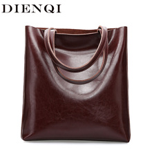 Big Cow Leather Shoulder Bag Ladies Genuine Leather Bags for