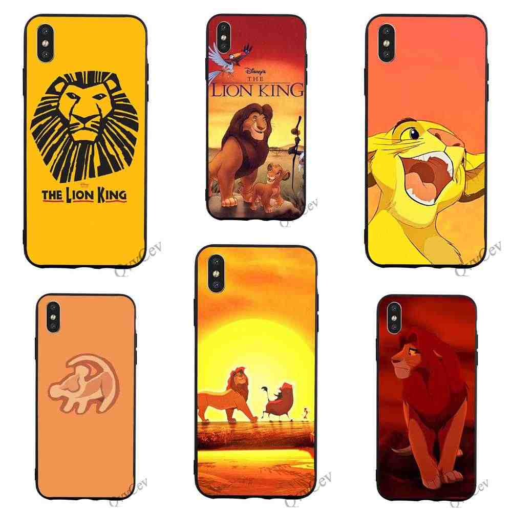 Fashion The Lion King Phone Cover for iPhone 6S Case 8 XR X 7 Plus 6 5 5S SE Xs Max Cases