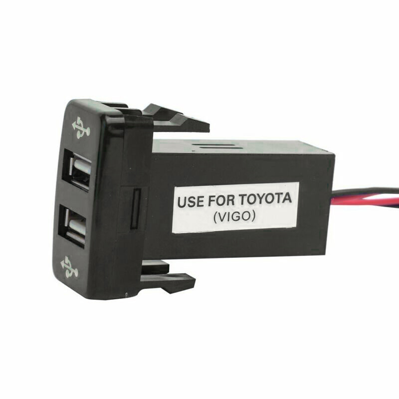 Car Phone USB 2-Port Charger Accessory Parts Dual Port Portable Useful For Toyota 4 Runner/Prado 120 Series