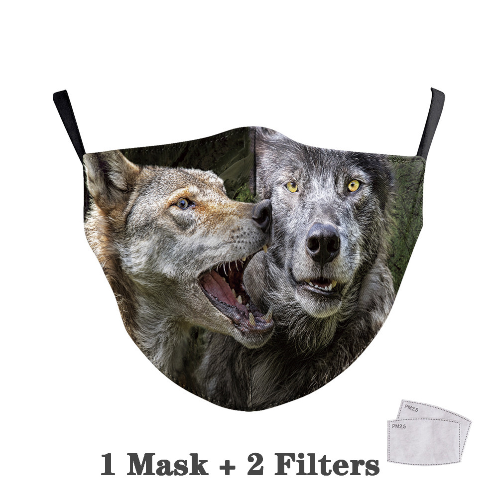 Washable Big Mouth Skull Face Masks 31