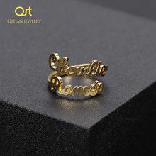 Anillo personalizado de doble nombre, anillo único personalizado, para novia, esposa, Regalos para mamá, joyería llamativa, collares ajustables