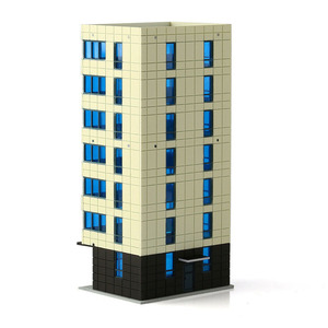 Image 4 - N Scale Outland Models Colored Modern City White Building Grand Apartment