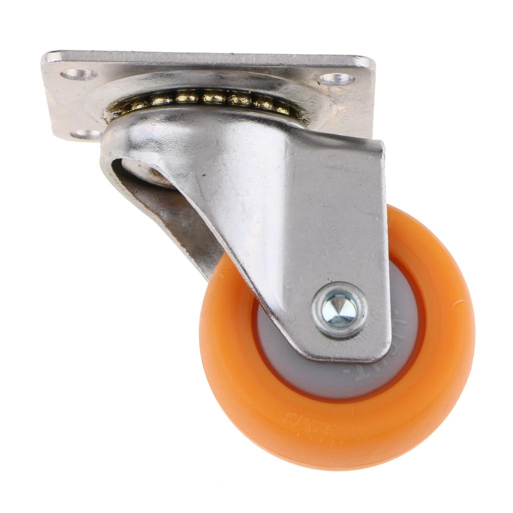 8pcs Trolley Casters Swivel Castor Wheel for Carts 32mm 17kg Orange Nylon
