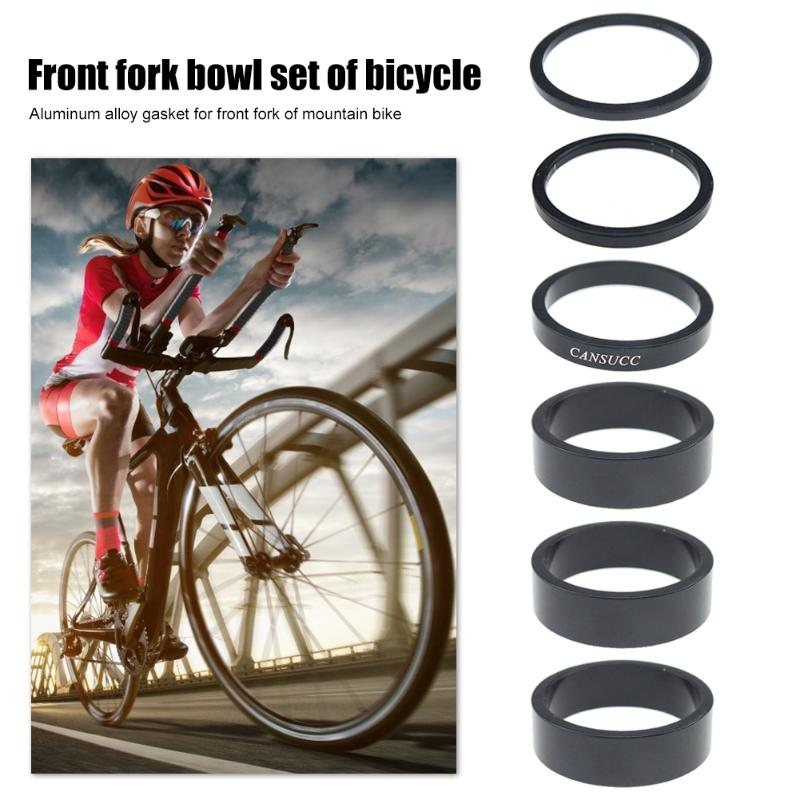 6pcs/set Bicycle Front Fork Washer MTB Mountain Bike Aluminum Alloy Headset Spacer Gasket Ring 2/3/5/10mm Bike Accessory(China)