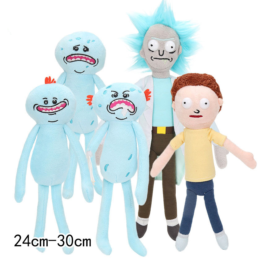 Rick And Morty Plush Toys Happy Sad Foamy Mr Meeseeks Plush Dolls Mr Poopybutthole Soft Stuffed Toys In Stock