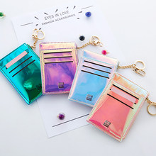 2019 New Coin Purse Fashion Solid Color Key Card Multifunction Mini Wallet Women Clutch Pillow Designer Small Wallet Laser Color(China)