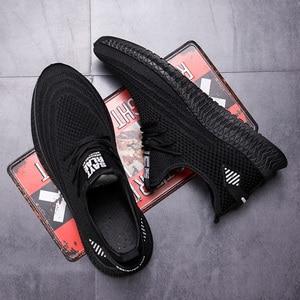 Image 5 - Mannen Casual Schoenen Lente Mesh Sneakers Zwart Loopschoenen Zomer Nieuwe Goedkope Sapatos De Mujer Mode Licht Ademende Mannen schoenen