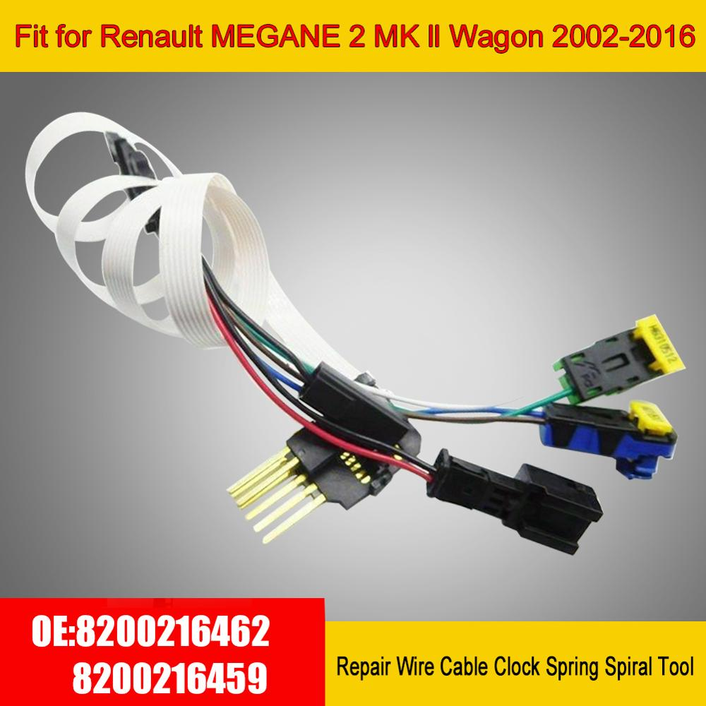 Professional Repair Wire Cable Clock Spring Spiral Tool Fit for Renault MEGANE 2 MK ll Wagon 2002-2016 8200216462 8200216459