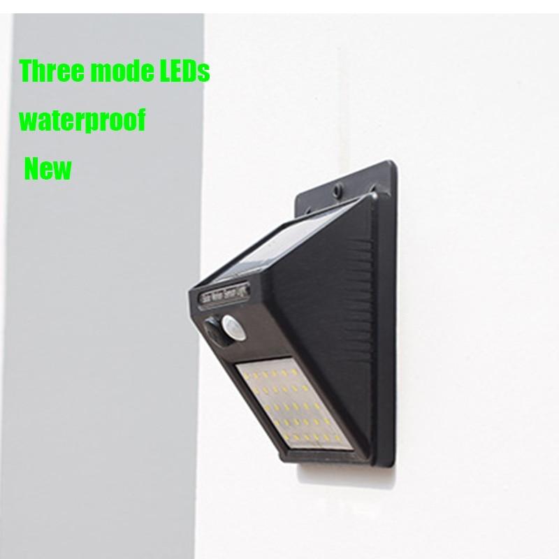 LED Solar Light Three Modes Garden Solar Light PIR Motion Sensor Solar Energy, Waterproof By Outdoor Waterproof Wall Street Deco